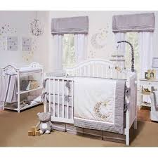 Gray And White Crib Bedding Sets Petit Tresor Crib Bedding Set Grey And White Celestial Theme