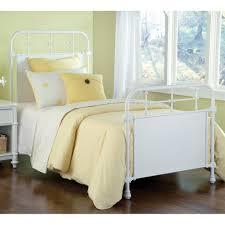 kensington iron bed in textured white humble abode