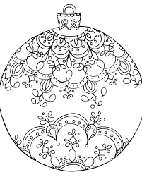 christmas ornament coloring ornaments free printable