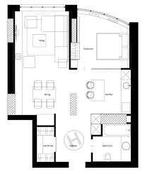 2 one bed room dwelling condominium designs beneath 60 sq meters