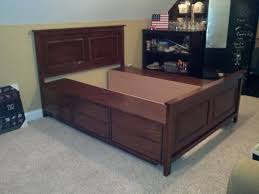 Platform Bed Frame Plans With Drawers by The Bullock 5 Queen Platform Storage Bed Diy