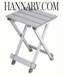 stylish camping st 9102 small aluminum side table or stool