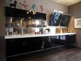meuble de cuisine noir laqué design meuble cuisine noir laque 19 mulhouse 24371157 cuir