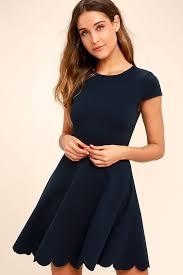 navy blue dress navy blue dress skater dress fit and flare dress 52 00