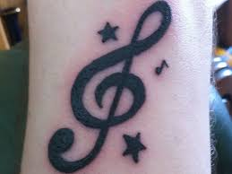 30 superb treble clef tattoo designs slodive