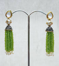 lotan earrings kundan earrings green ebay