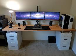 Dual Monitor Gaming Desk 96 Best Setup Ideas Images On Pinterest Desk Setup Pc Setup And