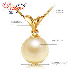 necklace gold pearl images Daimi akoya pearl necklace 100 natural gold pearl pendant jpg