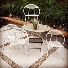 Salterini Patio Furniture Vintage Mid Century Modern Salterini Folding Round Hoop Patio