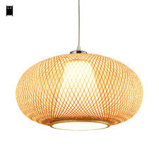rustic lantern pendant light bamboo wicker rattan lantern pendant light fixture asian japanese