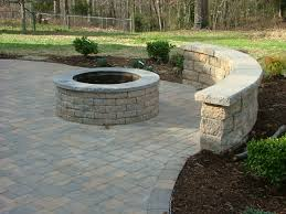 paver patio with built in fireplace in stafford virginia