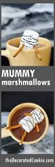 mummy marshmallows for halloween cocoa the decorated cookie
