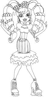 monster high coloring pages clawdeen wolf monster high sweet monster high doll and coloring pages
