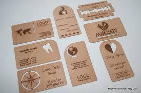 unique gift cards wooden business card unique design set of 10 custom