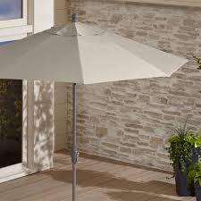 9 u0027 round sunbrella soft mineral patio umbrella with tilt black