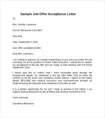 sample offer acceptance letter 9 download free documents in pdf