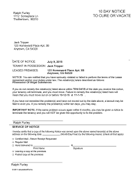 eviction notice forms u0026 legal eviction warnings ez landlord forms