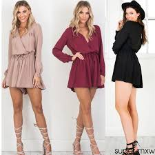 womens celeb casual playsuit party evening summer romper dress