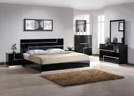 white simple bed design laminated wooden floor black bedroom