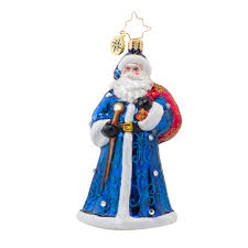 Radko Halloween Ornaments Radko 1017908 Sapphire Nicholas Brilliant Treasure Jeweled
