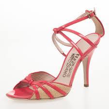 where to buy raffia salvatore ferragamo coral patent grisbi high heel raffia sandals