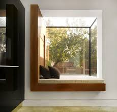 interiors clean and simple bay window with window seating and