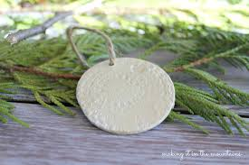 rustic handmade clay christmas ornaments making it in the mountains