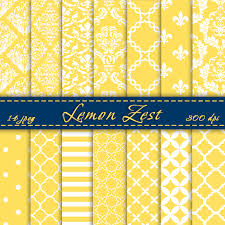 Scrapbook Paper Packs Lemon Zest Digital Scrapbook Paper Digital Paper Pack Summer