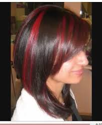 diy highlights for dark brown hair candy apple red highlights against dark brown diy projects