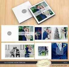 modern photo album square wedding album template 12x12 10x10 8x8 24 pages white
