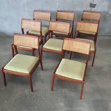 set of eight mid century jens risom