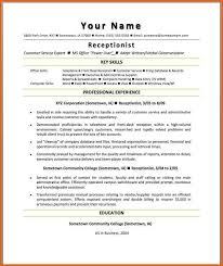 Sample Of A Receptionist Resume by Receptionist Resume Sample Resume Name