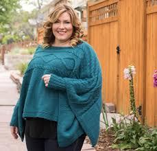 modern stylish poncho knitting patterns kits