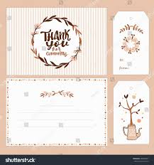 collection gift tags thank you card stock vector 409947841