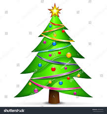 illustration christmas tree on white background stock vector