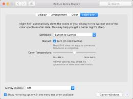 how to use night shift on your mac apple support