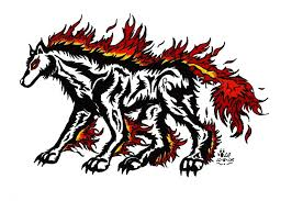 tribal fire wolf tattoo by legendary airliners on deviantart