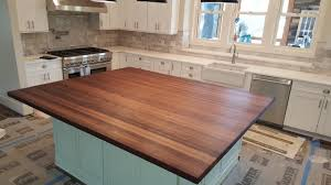 countertops brun millworks walnut edge grain butcher block countertop 3 8 roundover butchers wax finish