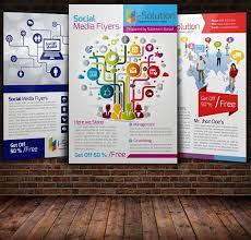 social media brochure template social media flyer template flyer templates creative market