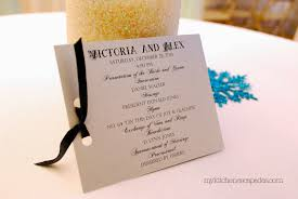 simple wedding program simple wedding programs