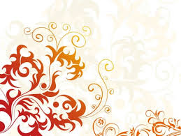 orange floral ornaments design background millions vectors