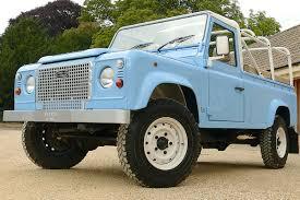 land rover convertible blue defender retro classic