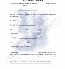 subcontractor agreement template playbestonlinegames