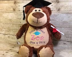Personalized Graduation Teddy Bear Personalized Stuffed Animal Custom Baby Cubbie Mammoth Plush