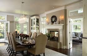 Dining Room Setting Dining Room Fireplace Ideas For Winter Nights