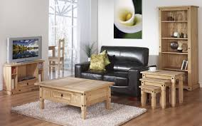 Contemporary Living Room Furniture Sets Furniture Black Leather Living Room Sofa Matched With Wooden