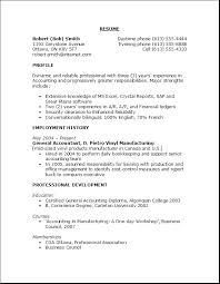 Profile Example For Resume by Sample Objectives For Resumes Berathen Com