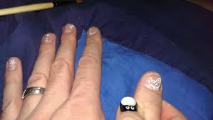 my wife decided to give me some nail art imgur