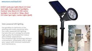 Leagy Landscape Lights Black Led Solar Spot Light Solar Powered