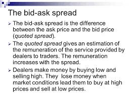 bid ask price dealers and bid ask spreads ppt